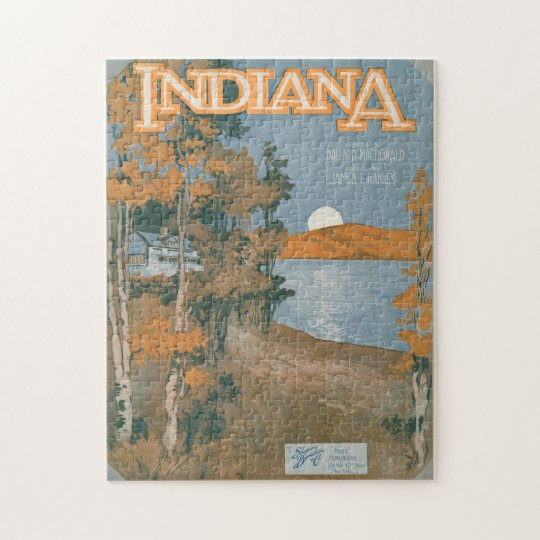 Back Home Again In Indiana Jigsaw Puzzle