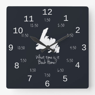 Back Home Time - EST edition Clocks