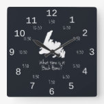 Back Home Time - EST edition Square Wall Clocks