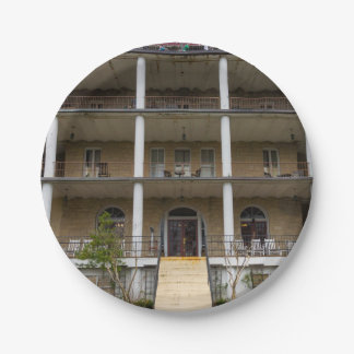 Back Of Crescent Hotel 7 Inch Paper Plate