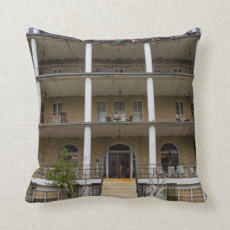 Back Of Crescent Hotel Throw Pillow
