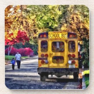 Back of School Bus Coasters