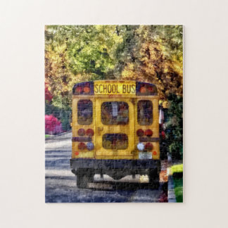 Back of School Bus Jigsaw Puzzle