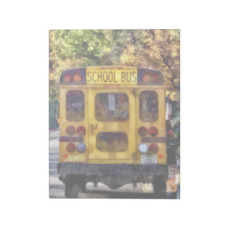Back of School Bus Notepad