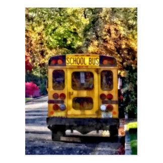 Back of School Bus Postcard