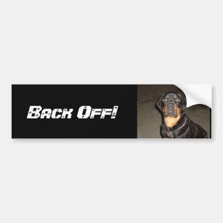 Back Off Bumpersticker! Bumper Sticker