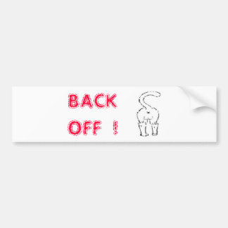 BACK OFF BUTT RED BUMPERSTICKER BUMPER STICKER