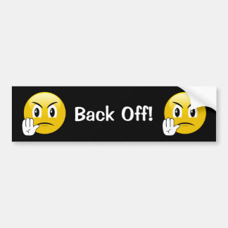 Back Off Emoji Bumper Sticker