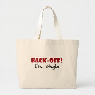 Back-off I'm Single Canvas Bags