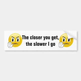 Back Off My Car Emoji Bumper Sticker