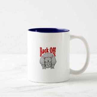 Back Off Rhino Shirt Two-Tone Coffee Mug