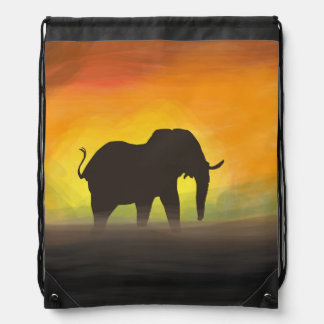 back pocket elephant drawstring bag