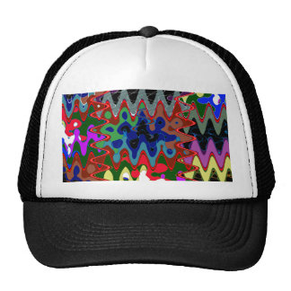 Back Printed Shirts Colorful Ethnic Wave Disc gift Trucker Hat