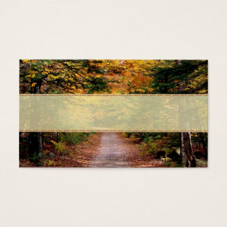 Back Road Fall Wedding Place Cards