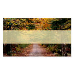 Back Road Fall Wedding Place Cards Business Card