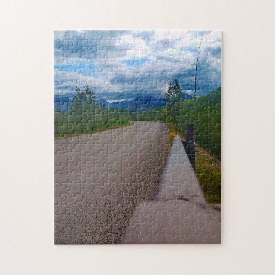 Back road to Polebridge Glacier National Park Jigsaw Puzzle