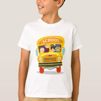 BACK SCHOOL SCHOOLBUS BUS STUDENTS TRANSPORTATION T-Shirt