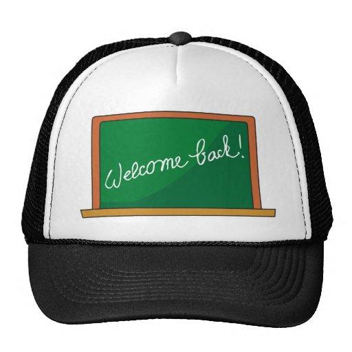 BACK SCHOOL WELCOME CHALKBOARD CLASSROOM EDUCATION TRUCKER HAT