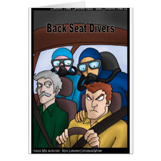 Back Seat Divers Funny Gifts Tees Cards Mugs Etc