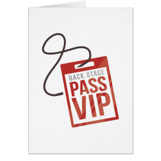 Back Stage Pass Greeting Card