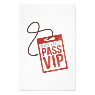 Back Stage Pass Stationery