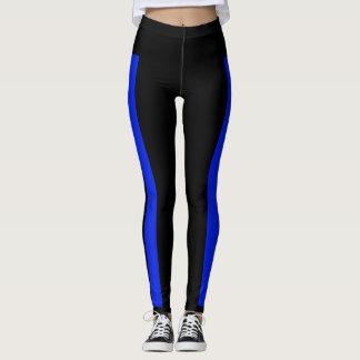 BACK THE BLUE Blue stripe leggings
