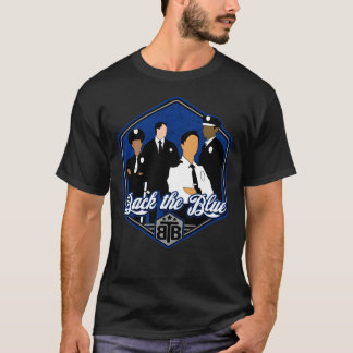 Back The Blue Police Officers T-Shirt