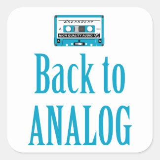 Back to analog square sticker