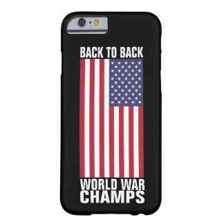 Back to Back World War Champs Barely There iPhone 6 Case