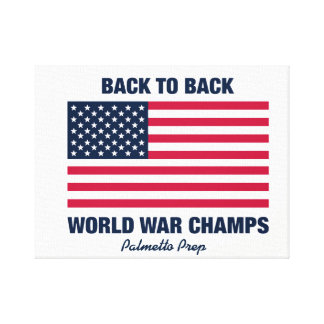 Back To Back World War Champs Canvas Art