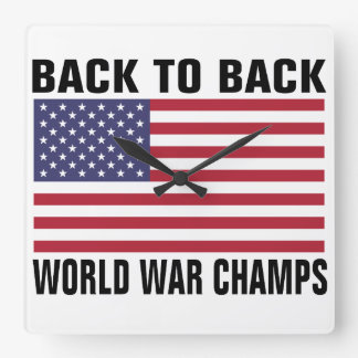 Back to Back World War Champs Wall Clock