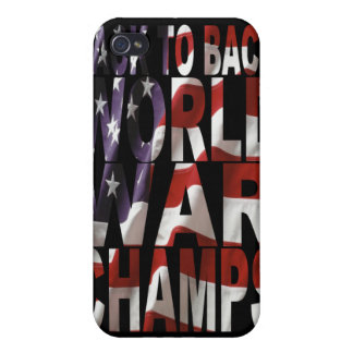 BACK TO BACK WORLD WAR CHAMPS IPHONE CASE iPhone 4 COVER