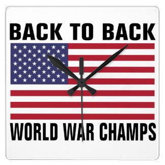 Back to Back World War Champs Wall Clocks