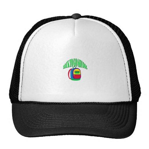 Back to go school fresh color green hats