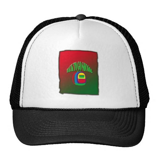Back to go school with background mesh hat