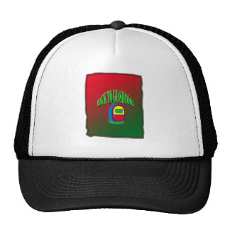 Back to go school with background trucker hat