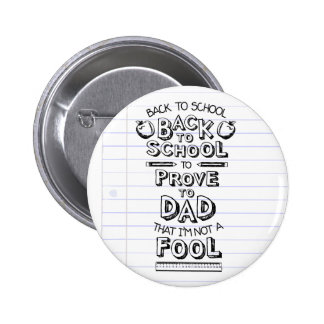 Back To School 2 Inch Round Button