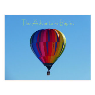 Back to School Adventure Hot Air Balloon Postcard