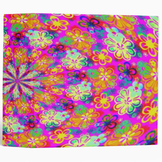 BACK TO SCHOOL BINDERS - PSYCHEDELIC FLOWERS