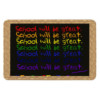 Back to School Blackboard Writing Magnet