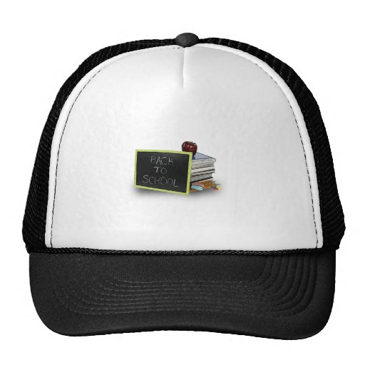Back to school books hats