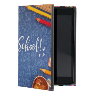 Back To School Chalk and Stationary Case For iPad Mini