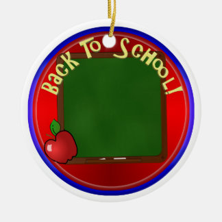 Back To School Chalk Board - Add Message Ceramic Ornament
