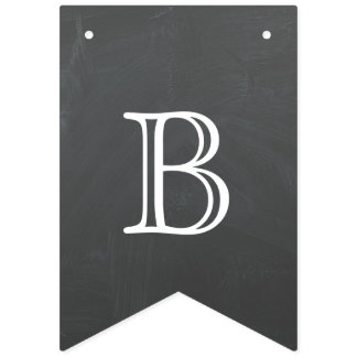 Back to school - chalkboard design bunting flags