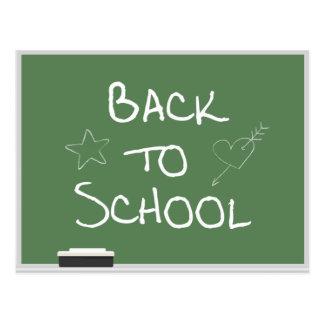 Back to School Chalkboard Postcard