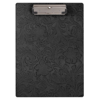 Back to School College Black Rustic Leather Clipboards