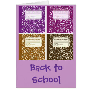 Back to School/Composition Notebook Card