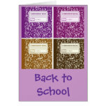 Back to School/Composition Notebook Greeting Cards