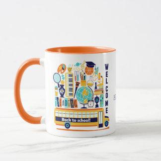 Back to School custom name mugs