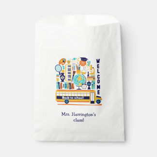 Back to School custom text favor bags
